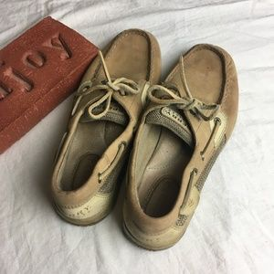 Sperry Top Sider Bluefish Two Eye Leather Boat 8 M